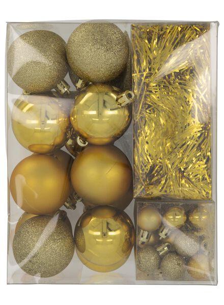 HEMA Weihnachtsbaum-Dekorationsset, Gold, 54-teilig