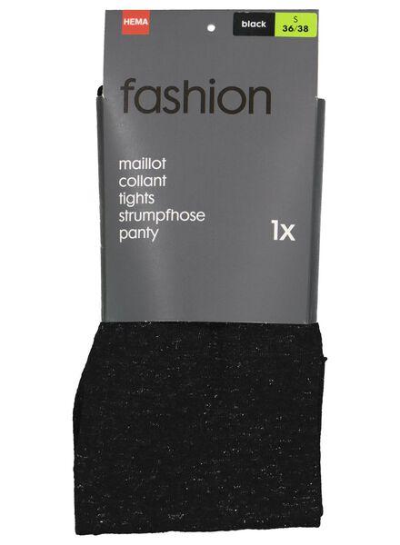 Fashion-Strumpfhose, Glitter schwarz schwarz - 1000016540 - HEMA
