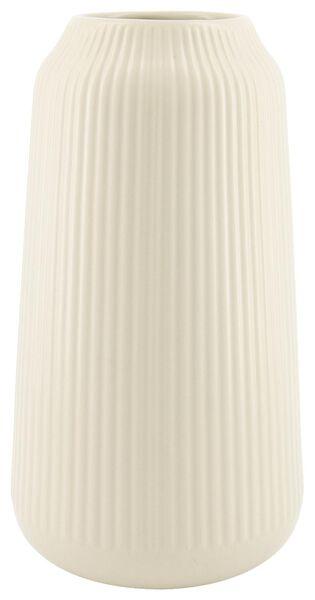 vase Ø16x30 - faïence gris clair - 13322011 - HEMA
