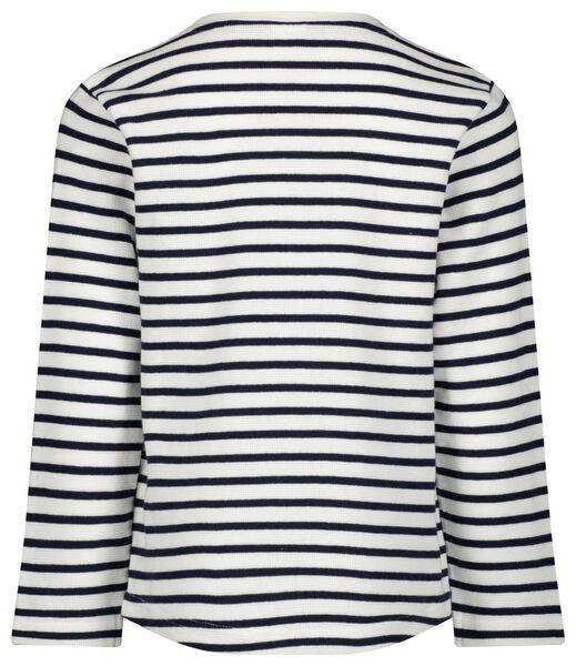 Kinder-Sweatshirt, Streifen dunkelblau dunkelblau - 1000024573 - HEMA