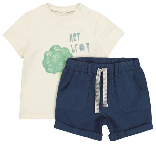 baby T-shirt and shorts beige beige - 1000019336 - hema