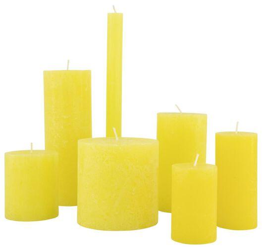 rustic candles yellow yellow - 1000020026 - hema