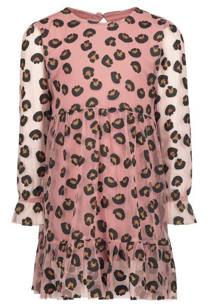 kinderjurk mesh roze roze - 1000021026 - HEMA