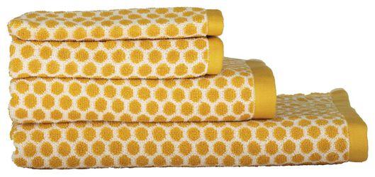 serviettes de bain - qualité épaisse - à pois ocre ocre - 1000015149 - HEMA