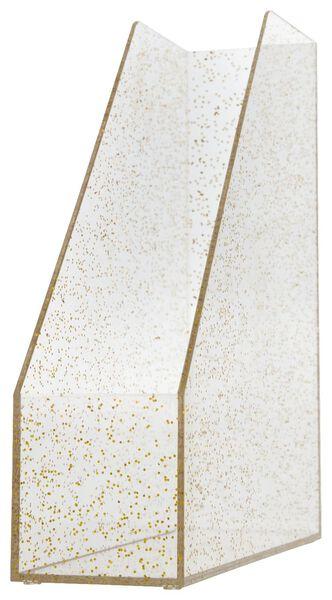 Stehsammler, 23 x 8 x 28 cm, goldener Glitter - 14800013 - HEMA