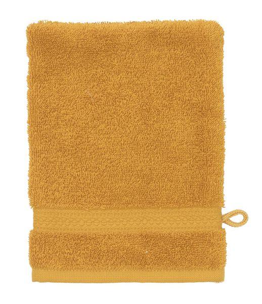 gant de toilette de qualité épaisse ocre gant de toilette - 5220024 - HEMA
