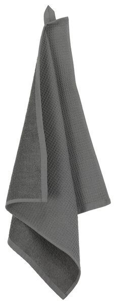essuie-mains - 50 x 50 - coton gaufré gris - 5490043 - HEMA