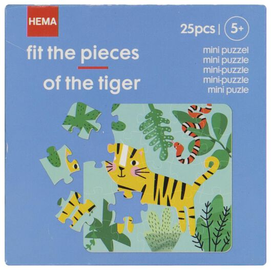 Mini-Puzzle, Tiger - 15180044 - HEMA
