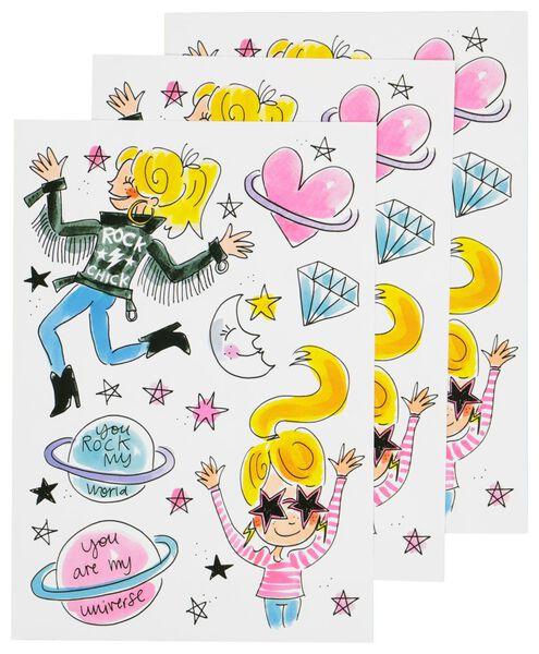 stickers Blond - 3 stuks - 14950039 - HEMA