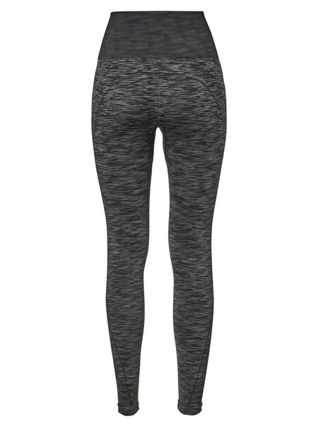 women's sports leggings grey melange grey melange - 1000017244 - hema