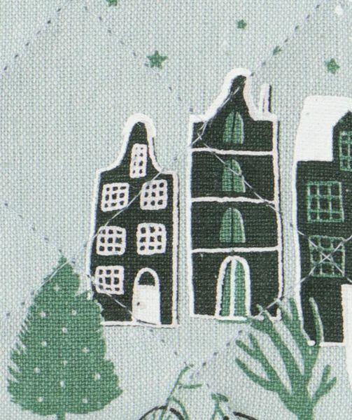 pannenlap met huisjes groen - 5400163 - HEMA