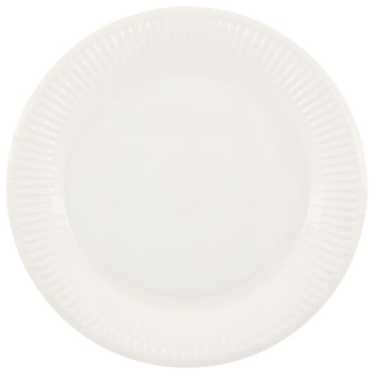 20 small paper plates - 22.5 cm - white - 14280207 - hema