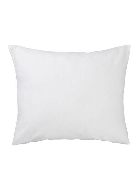 taie d'oreiller molleton - stretch - blanc - 5140056 - HEMA