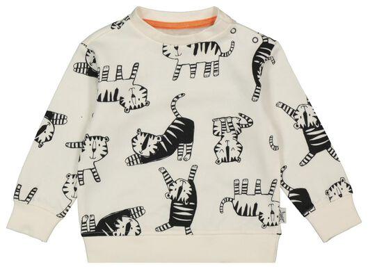 Babyoberteile - HEMA Baby Sweatshirt, Tiger Eierschalenfarben - Onlineshop HEMA