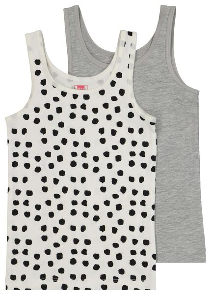 2-pack children's vests black black - 1000020477 - hema