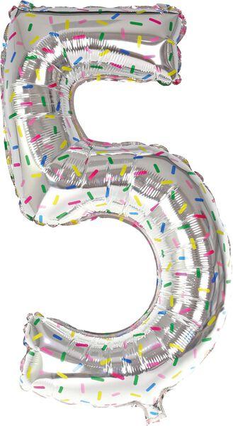 XL-Folienballon, Zahl 0 - 9 silber silber - 1000019538 - HEMA