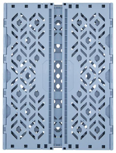 caisse pliante recyclée 39 x 29 x 15 cm - bleu - 39891046 - HEMA