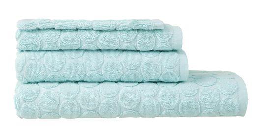 serviettes de bain - qualité épaisse - pois vert menthe vert menthe - 1000015153 - HEMA