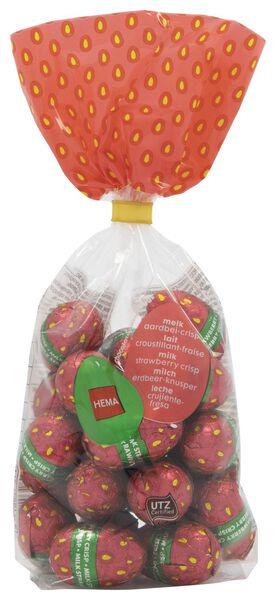 œufs de Pâques en chocolat au lait croquant fraises 200 g - 10091043 - HEMA