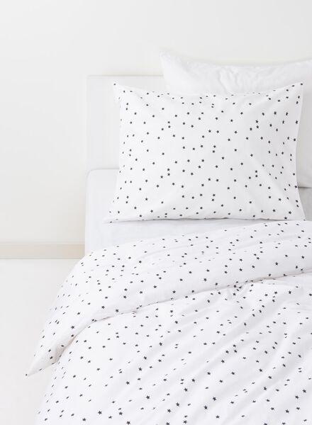 housse de couette enfant-coton doux-140x200cm-blanc étoiles - 5750101 - HEMA