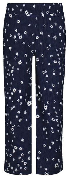 Kinder-Hose, Blumen dunkelblau dunkelblau - 1000023309 - HEMA
