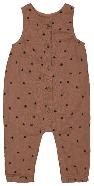 Newborn-Jumpsuit, Musselin braun braun - 1000022878 - HEMA