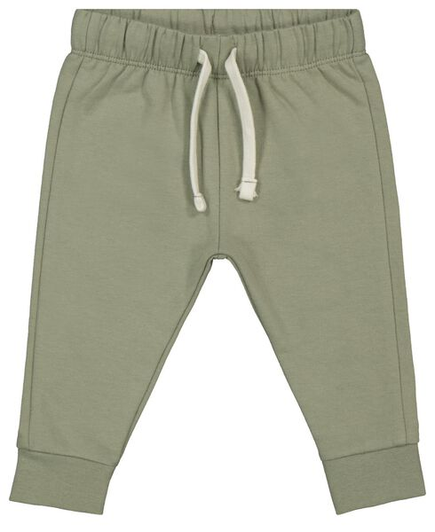 pantalon sweat bébé vert vert - 1000022019 - HEMA