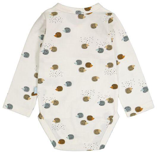 Baby-Wickelbody, Igel eierschalenfarben eierschalenfarben - 1000024486 - HEMA