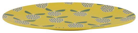 dinner plate Ø26.5 melamine fruit yellow - 41540023 - hema