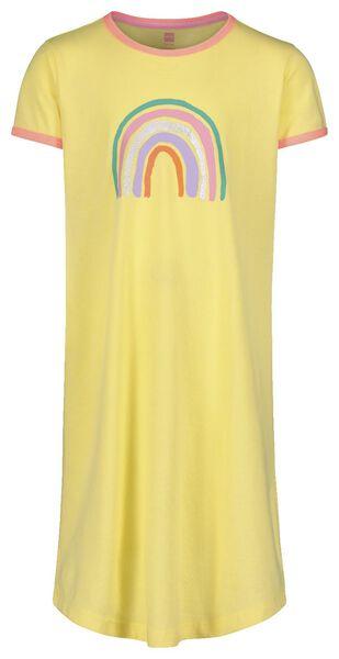 chemise de nuit enfant jaune jaune - 1000018475 - HEMA