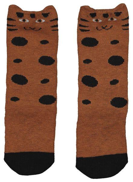 2 paires de mi-bas bébé marron marron - 1000014870 - HEMA
