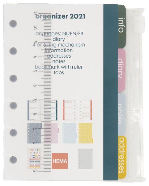 recharge d'agenda 2021 - 12.5x8 - multicolore - 14622210 - HEMA