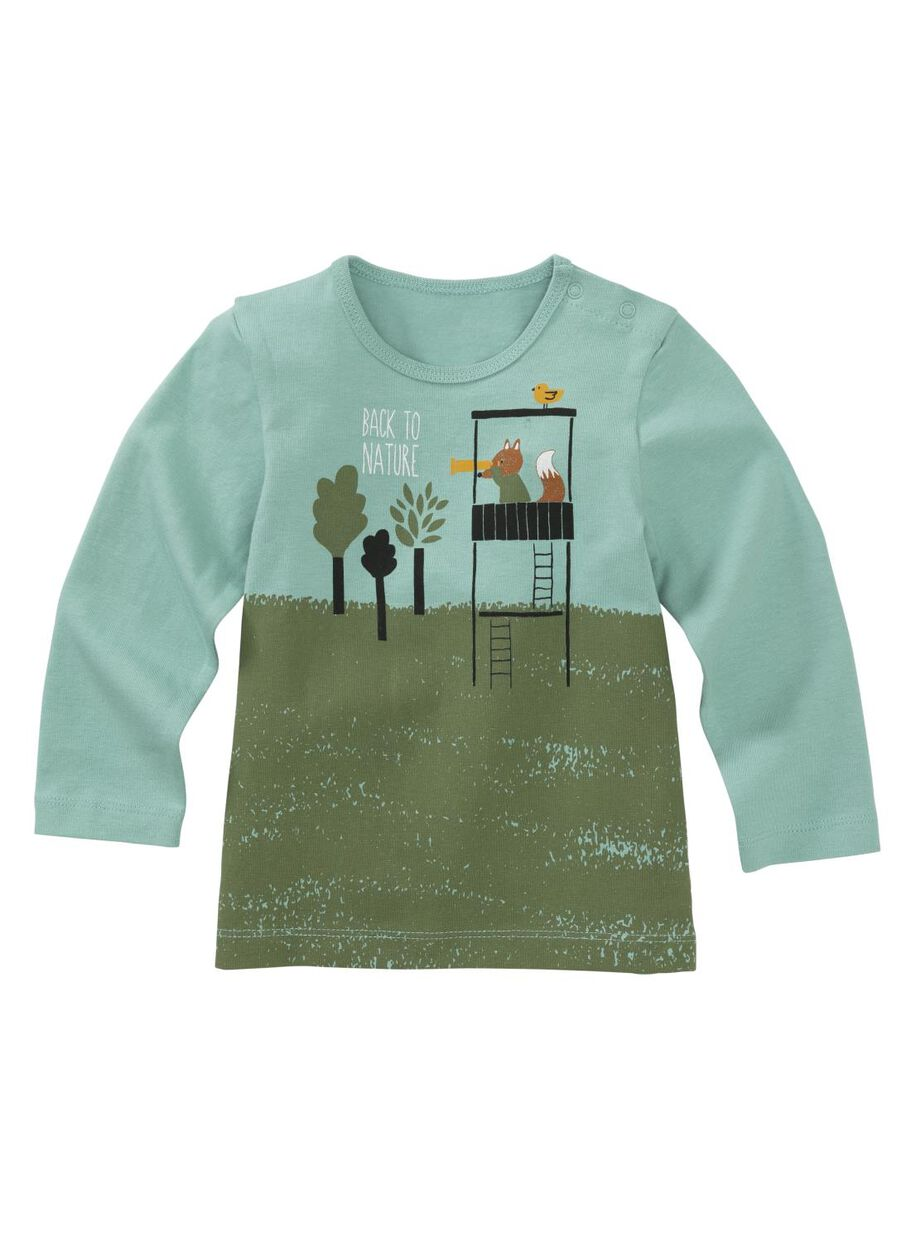 600397e28 baby T-shirt mint green - HEMA