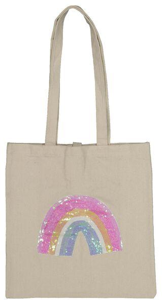 Einkaufstasche – aufrollbar – Baumwolle – 36.5 x 35 cm - 61122254 - HEMA