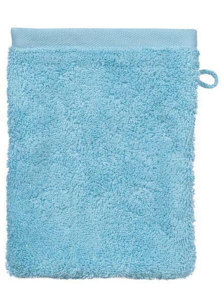 gant de toilette - hôtel extra doux - aqua uni - 5237006 - HEMA