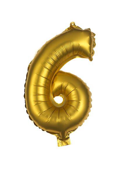 folie ballon 6 6 goud - 60800506 - HEMA