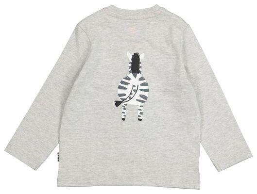 baby T-shirt grey melange grey melange - 1000017541 - hema