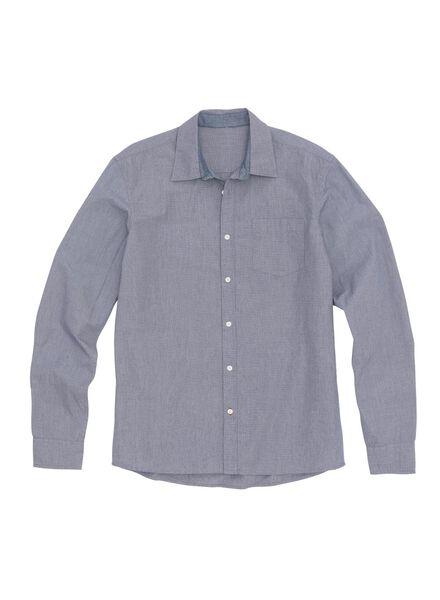 men's shirt dark blue dark blue - 1000005836 - hema