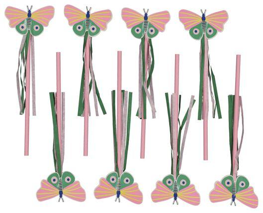 8 baguettes magiques 20cm papillon - 14200428 - HEMA
