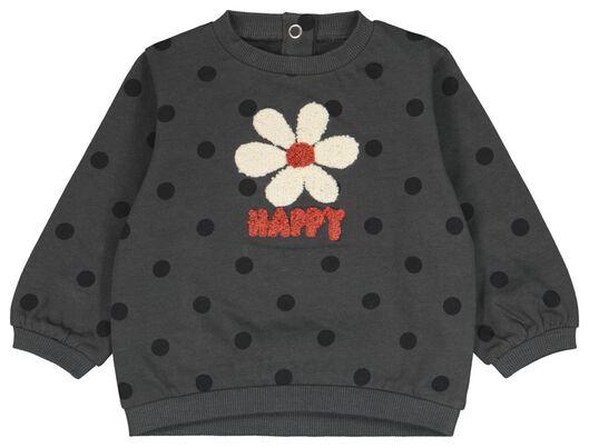 Babyjacken - HEMA Babysweater Bloem Grau - Onlineshop HEMA