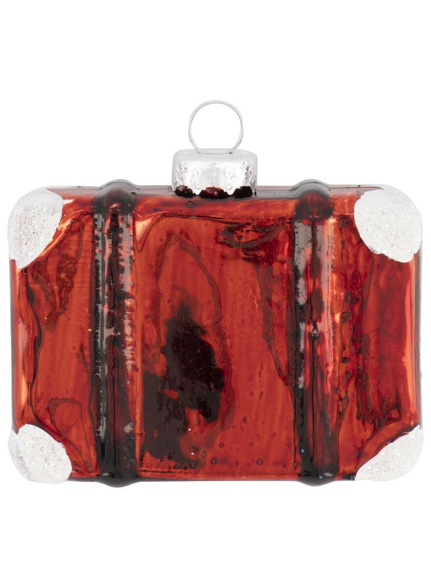 décoration de Noël en verre valise 2x6,5x5 - 25104857 - HEMA