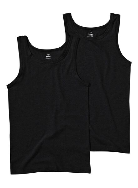 2-pack men's singlet black black - 1000006900 - hema