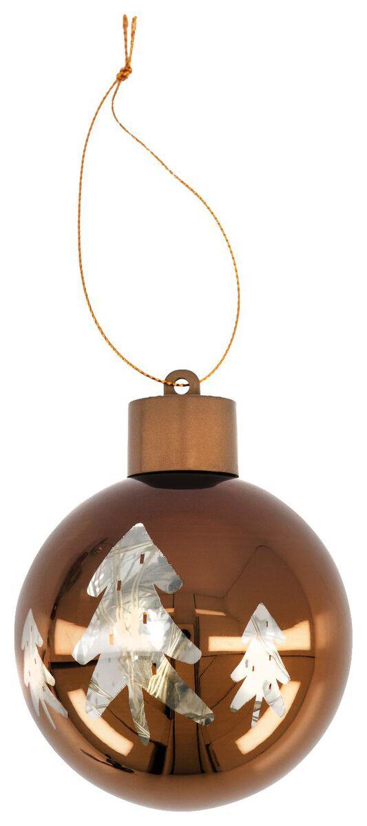 boule de Noël LED cuivre sapin - 25580002 - HEMA