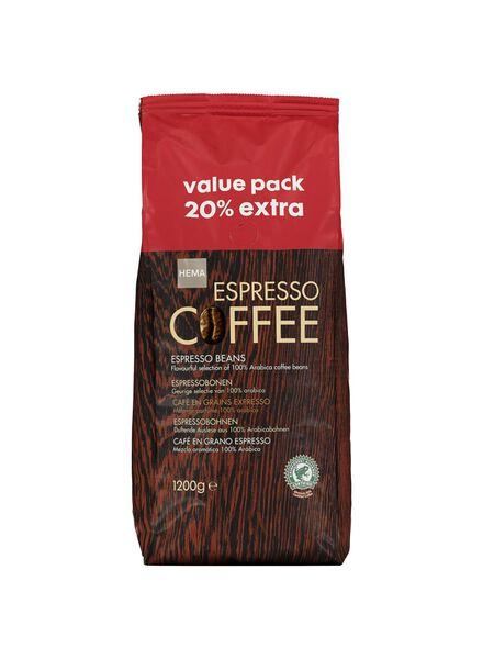 coffee beans espresso - 1.2 kg - 17110025 - hema