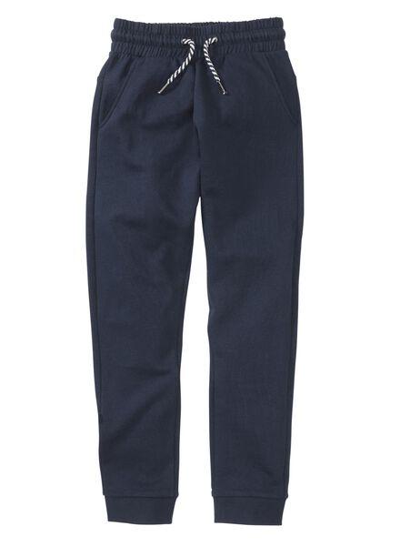 pantalon sweat enfant bleu foncé bleu foncé - 1000004030 - HEMA