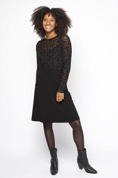 Damen-Rock schwarz schwarz - 1000021230 - HEMA