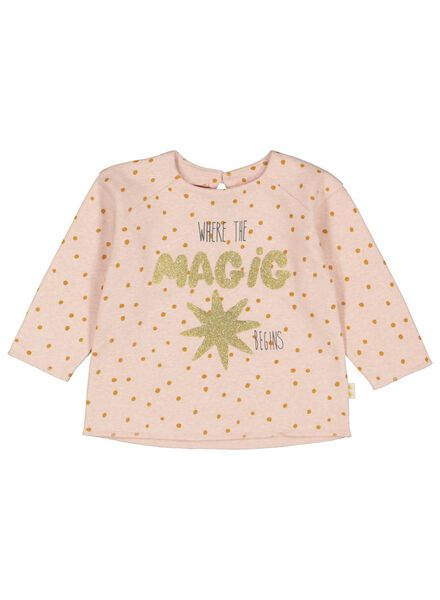baby sweater magic old pink 68 - 33075432 - hema