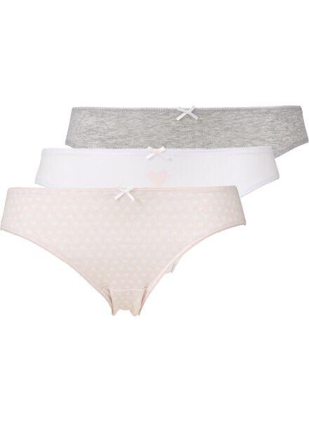 3-pack women's briefs light pink light pink - 1000007838 - hema