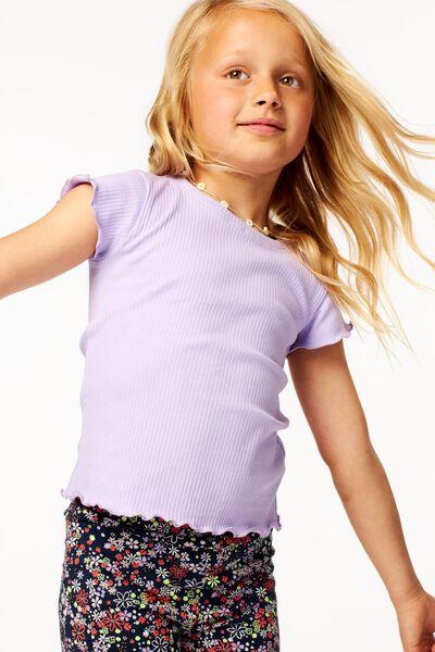 Kinder-Leggings, Schlaghosenschnitt, Blumen dunkelblau dunkelblau - 1000024409 - HEMA