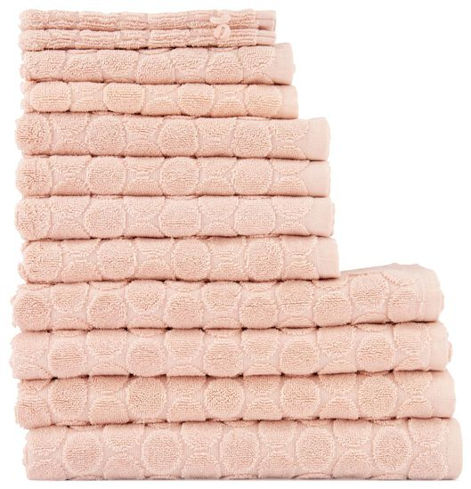 towel - 70 x 140 cm - heavy quality - pink dotted pink towel 70 x 140 - 5240190 - hema